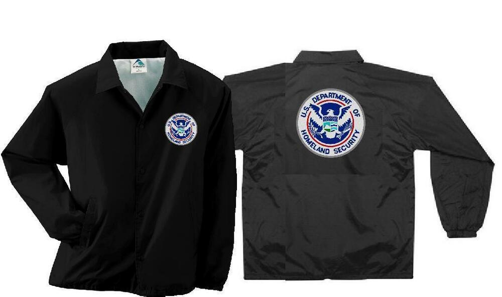 Homeland Security Embroidered Windbreaker Coaches Jacket