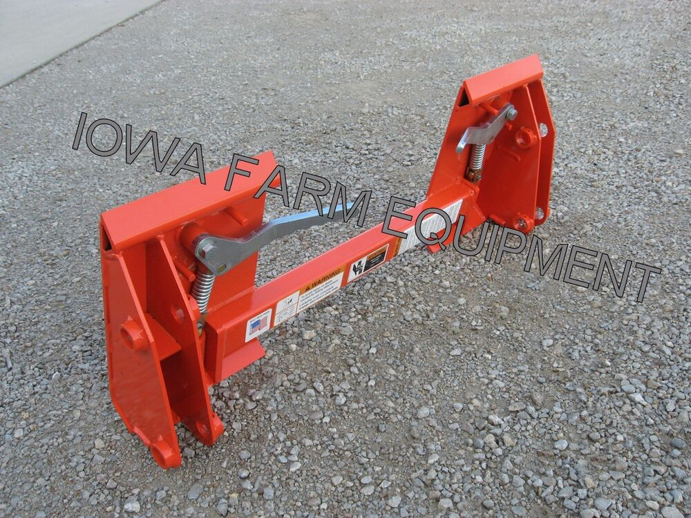 Kubota Pin On Loader To Skid Steer Quick Attach Adapter