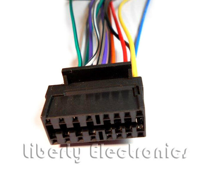 details about new 16 pin auto stereo wire harness plug for sony cdx-l250 /  cdx-l300