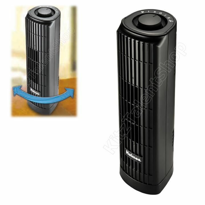 Mini oscillating tower table fan cooling portable slim air for Air circulation fans home