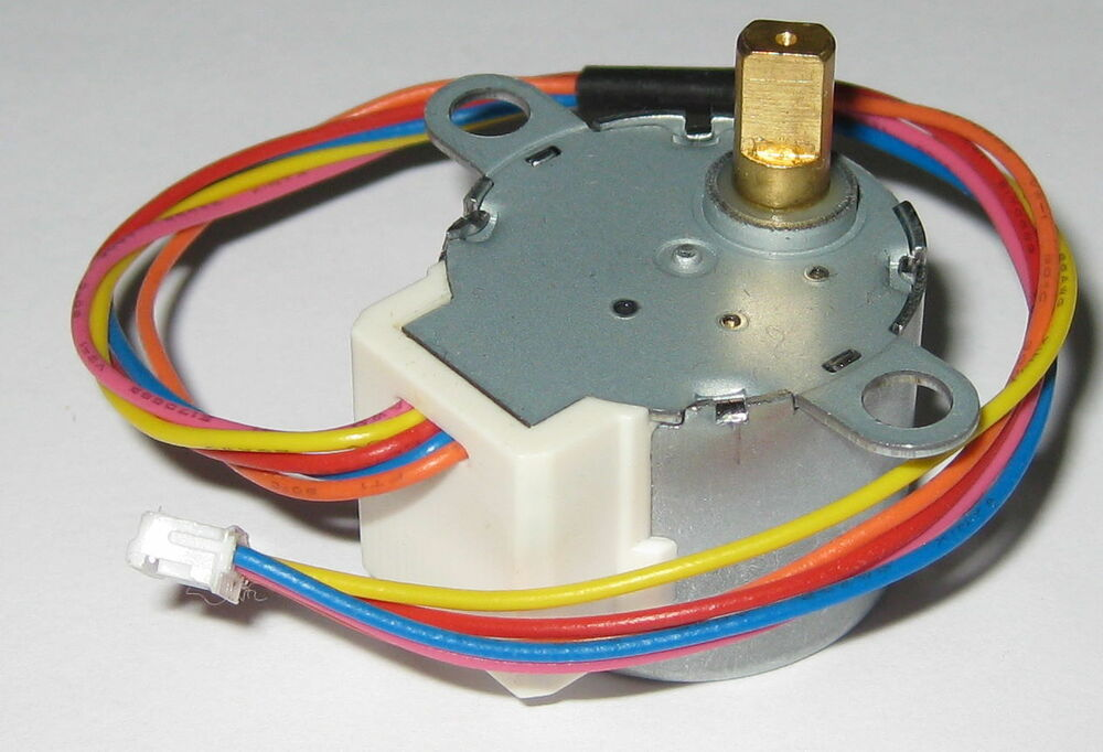 Radioshack 4 phase mini stepper motor with 1 64 gearbox for Very small stepper motor