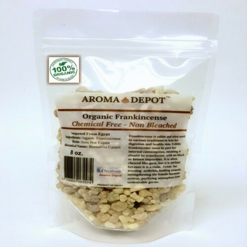 100% Pure Organic Frankincense Resin / Tears - Highest Quality Pouch Aroma Depot