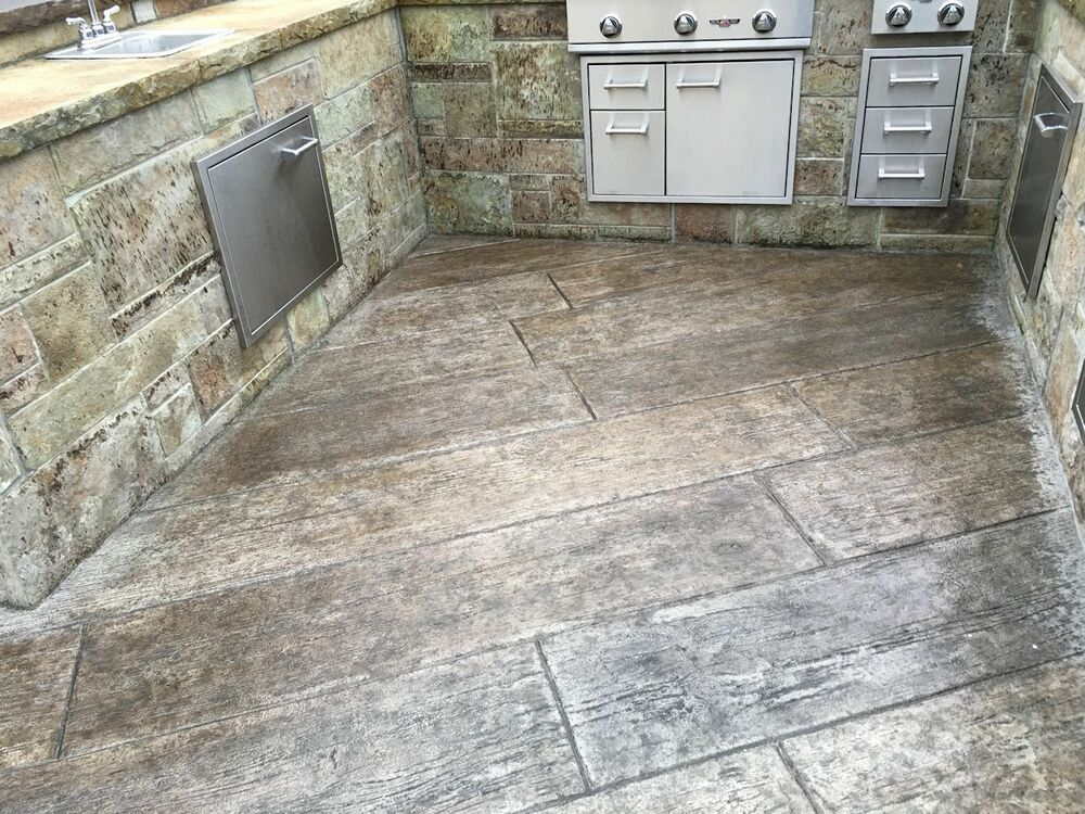 Wood Plank Stamped Concrete : Centennial plank pc concrete stamp inch wood planks