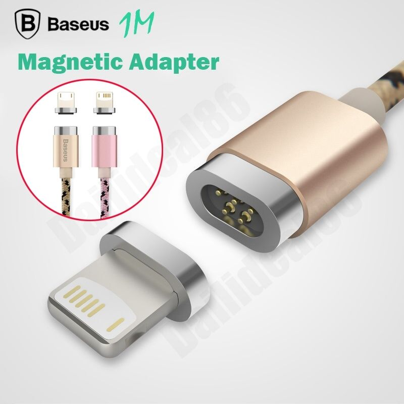 iphone magnetic charger baseus metal magnetic adapter charger cable lightning usb 2637