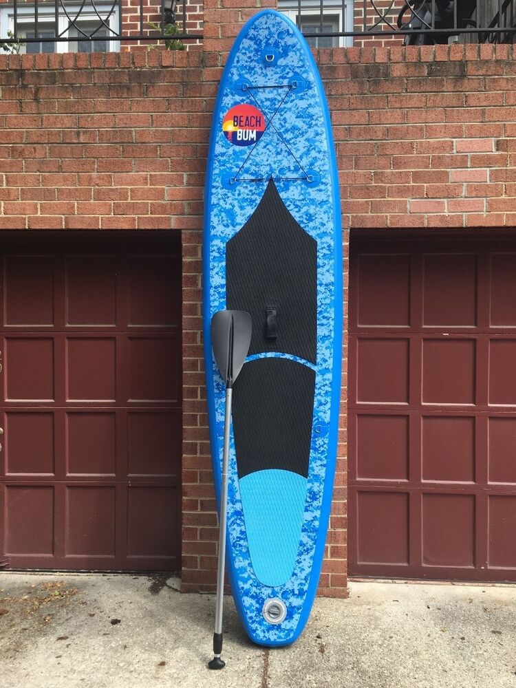 Beach Bum Spk3 Inflatable Stand Up Paddle Board W Paddle