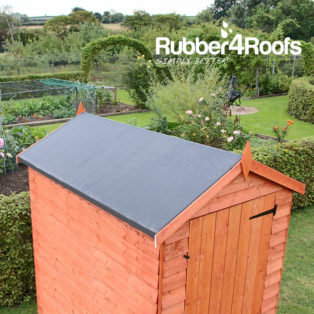 Epdm rubber roofing kit for shed roofs multiple sizes for Shed roofing