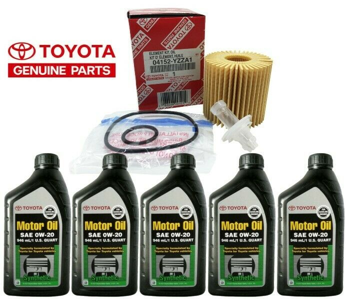 genuine toyota synthetic motor oil sae 0w 20 5 pack with