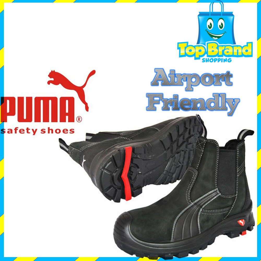 PUMA SAFETY BOOTS Work 630347 Tanami Elastic Sided COMPOSITE TOE METAL FREE SHOE | EBay
