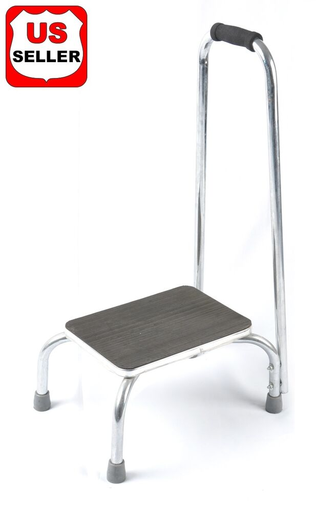 Benovate Kitchen Foot Step Stool With Support Handle Grab