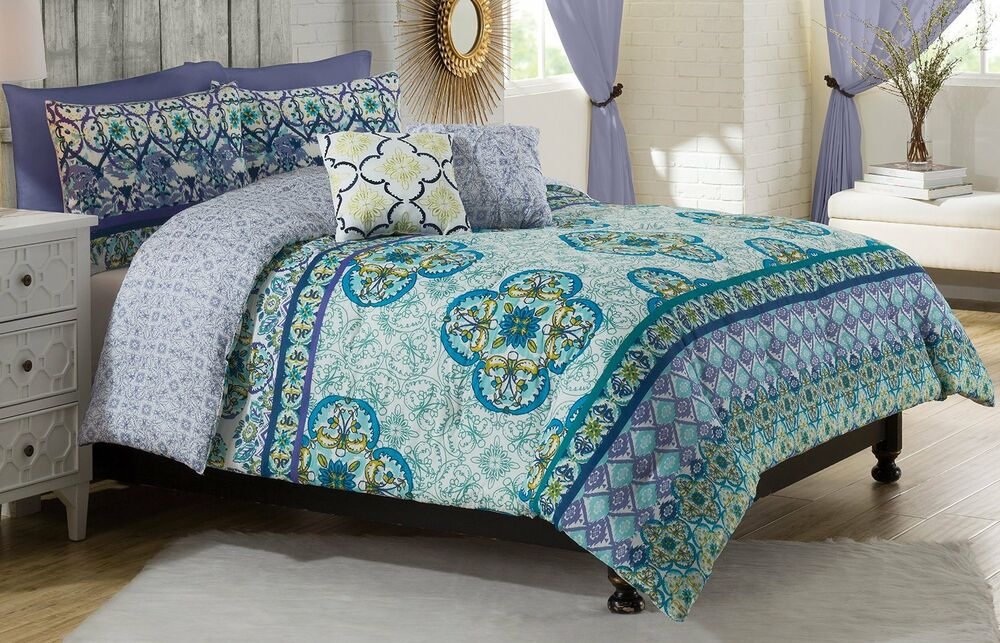 4-Pc Vue Cleo Twin XL Comforter Set Girl's Dorm Room ...