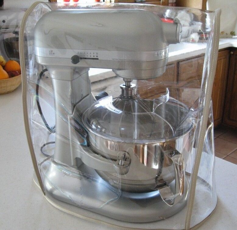 Clear Mixer Cover W Tan Trim Fits Kitchenaid Bowl Lift