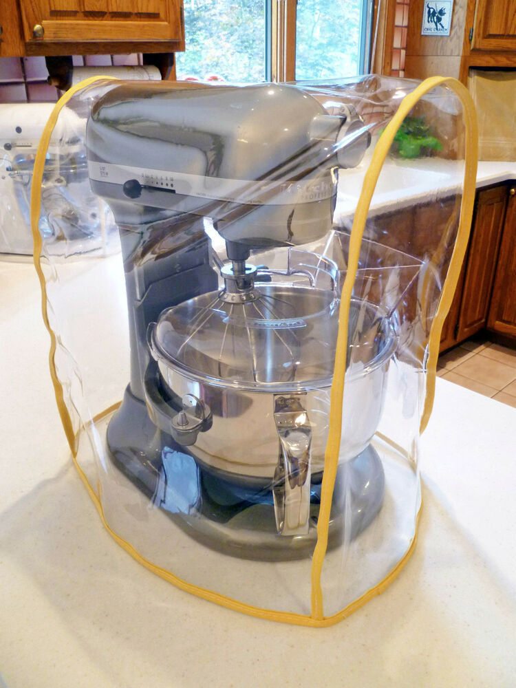 Yellow Trimmed Clear Mixer Cover Fits Kitchenaid Bowl Lift