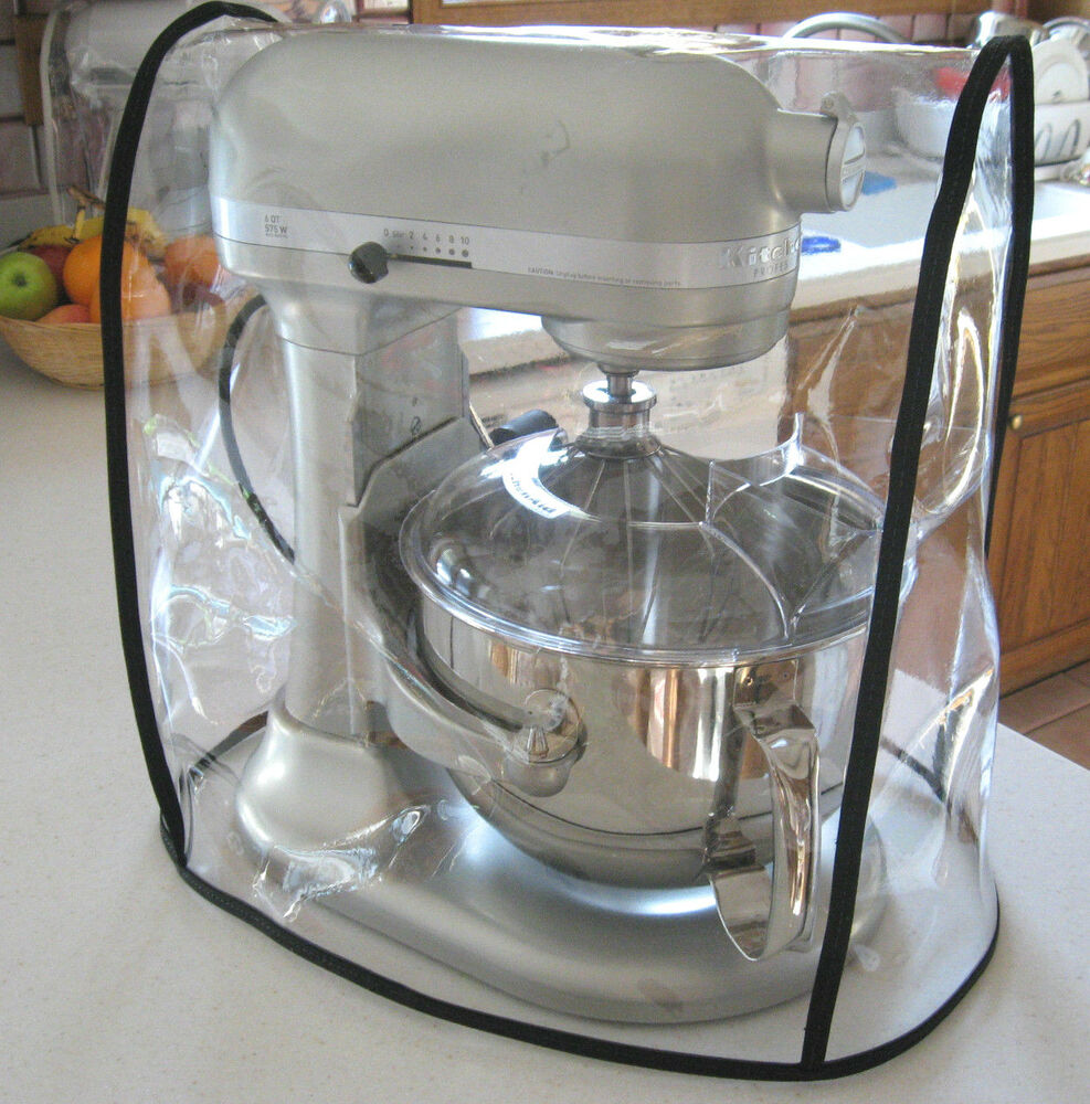 Clear Mixer Cover Fits Kitchenaid Bowl Lift Black Trim