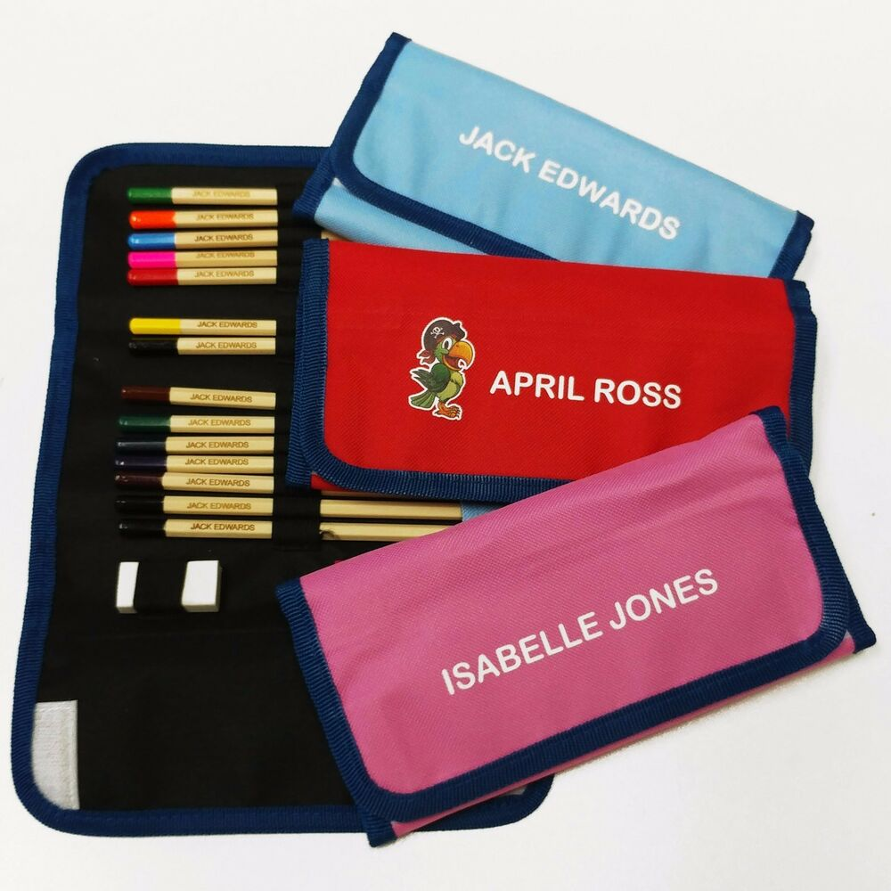 Personalised Colouring Pencils Set In Pencilcase Name On