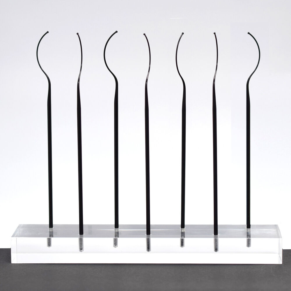 Exhibition Stand Fitters : Sleek eyelash fitters tester try on wands display acrylic