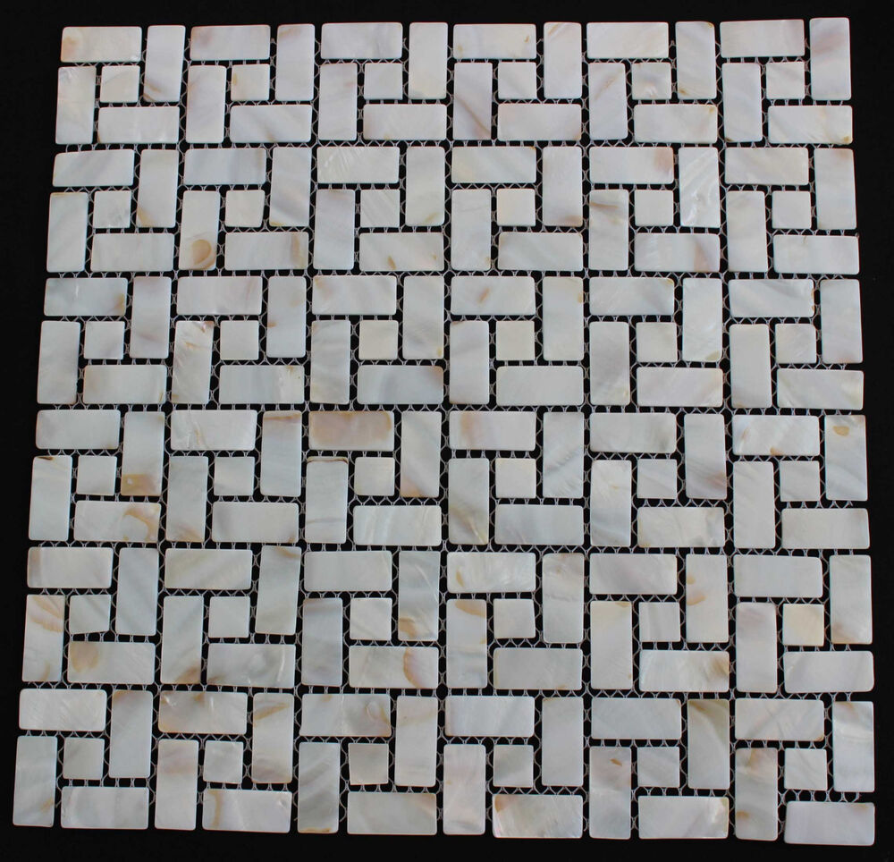 Mother Of Pearl Backsplash Tile Random Brick Pattern