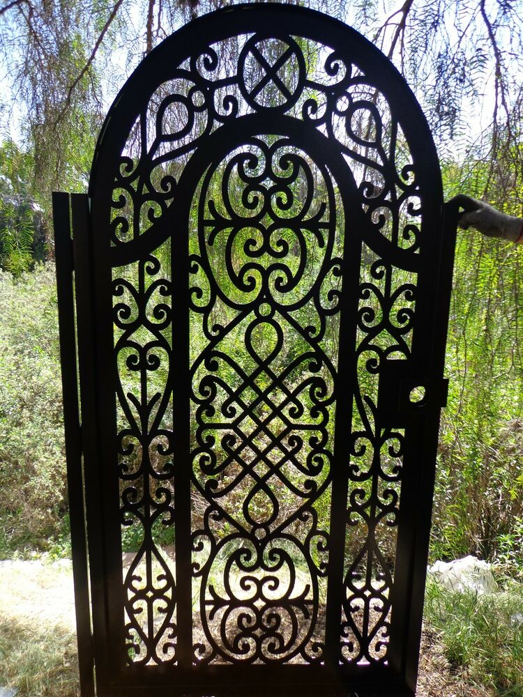 metal gate pedestrian walk thru iron steel garden art ornamental made in usa ebay. Black Bedroom Furniture Sets. Home Design Ideas