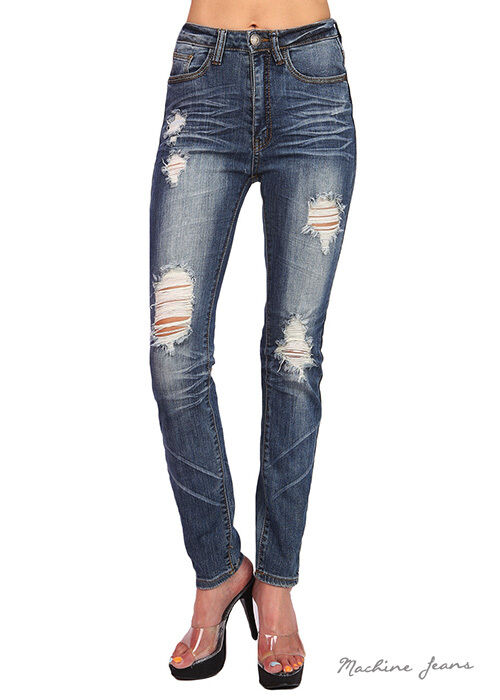 We now have these new medium distressed jeans to go with your fall outfits! Distressed denim skinny jeans will match everything, and have just enough stretch to wear all day.5/5.