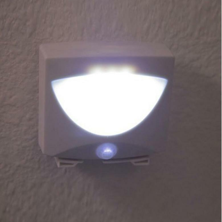 3 Led Indoor Motion Sensor Activated Mighty Light Outdoor Night Light Ebay