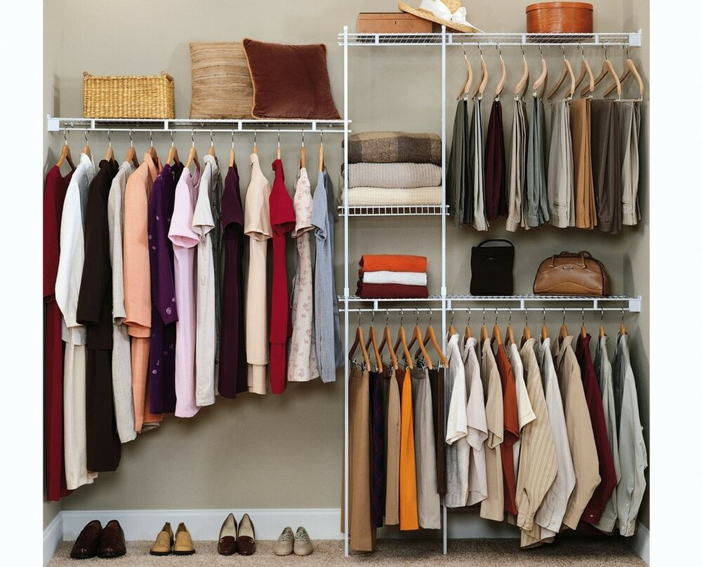 Closet organizer shelves system kit shelf rack clothes Pictures of closet organizers