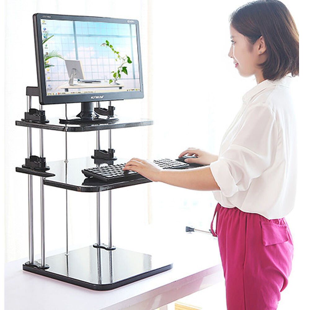 Adjustable computer laptop standing desk stand up desk for Standing desk at home