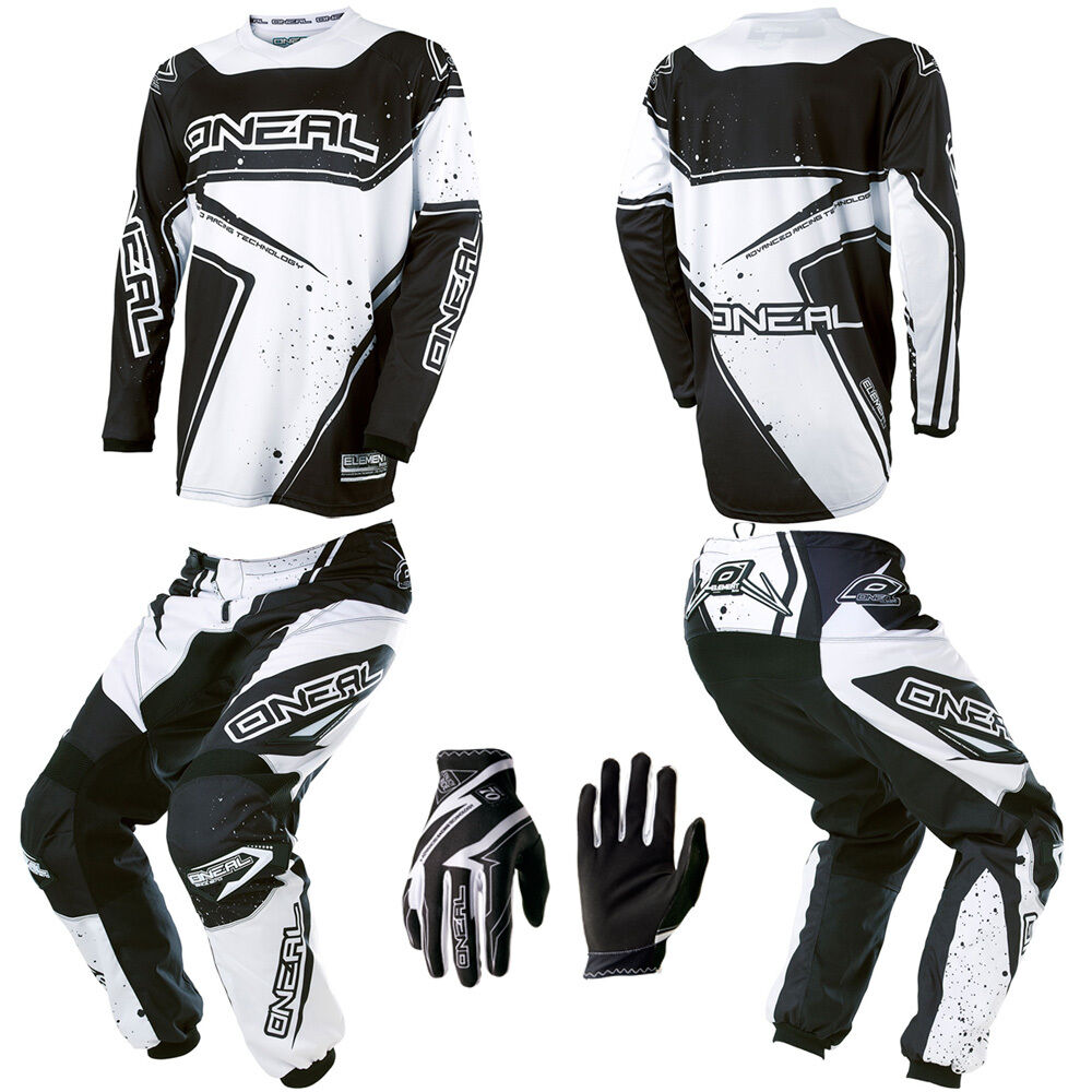 O 39 Neal Element Black White Motocross Mx Dirtbike Gear