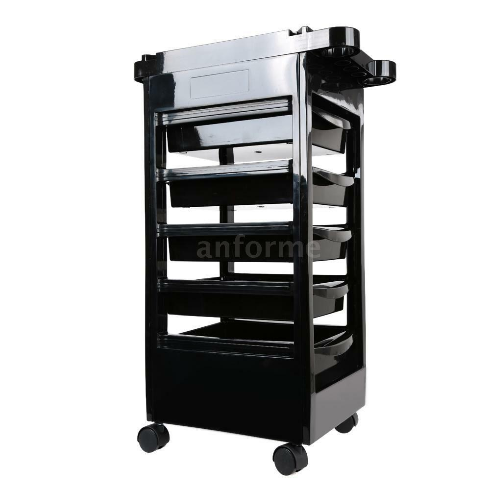 Hairdressing storage trolley beauty salon spa rolling cart for Salon trolley