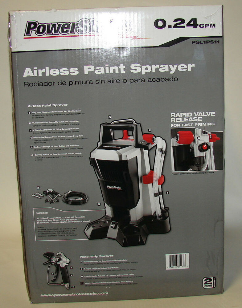 Powerstroke Airless Paint Sprayer Psl1ps11 24gpm Ebay