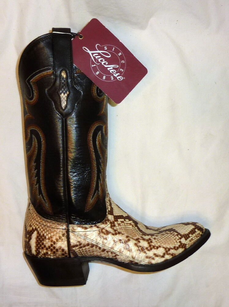 Lucchese M3039 Size 7 5ee Mens Asher Python Snakeskin