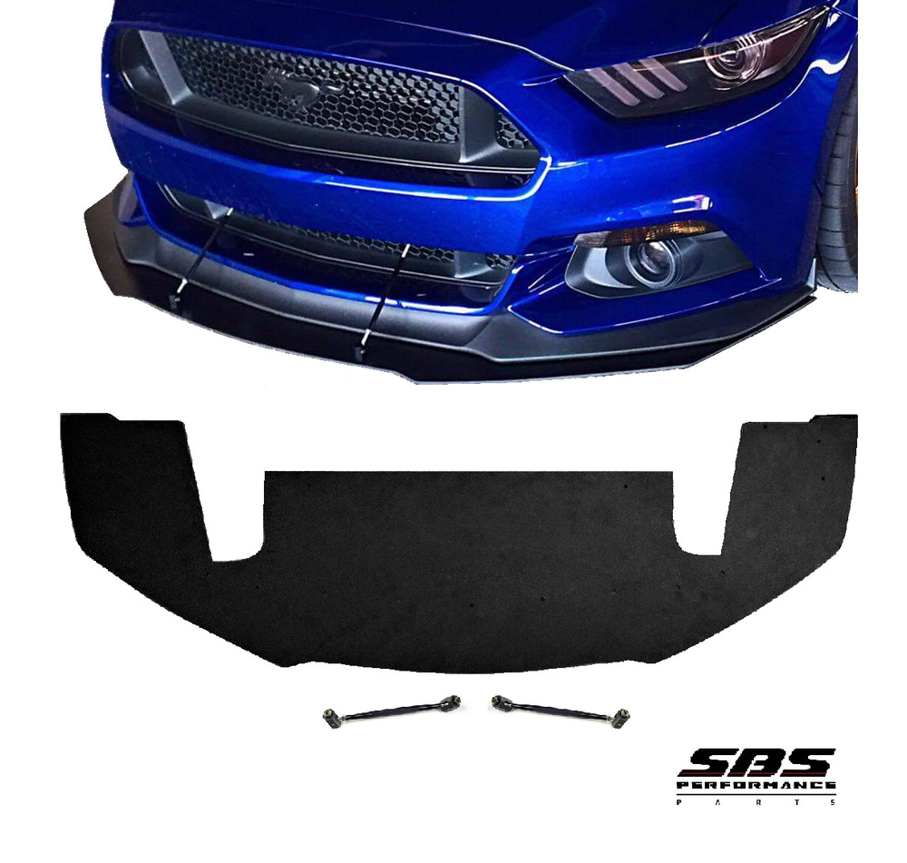front splitter 2 support rods for 2015 2017 mustang gt w performance package ebay. Black Bedroom Furniture Sets. Home Design Ideas