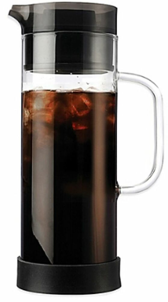 glass coffee maker iced brew coffee tea maker primula pot glass 50 oz new 29294