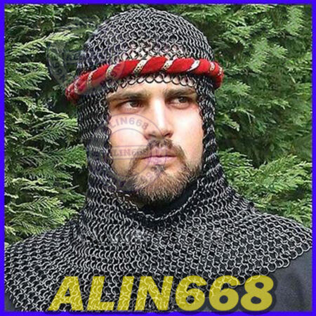 img-Chainmail Coif Chain Mail Hood Chain-Mail Costume for Medieval drama role-play