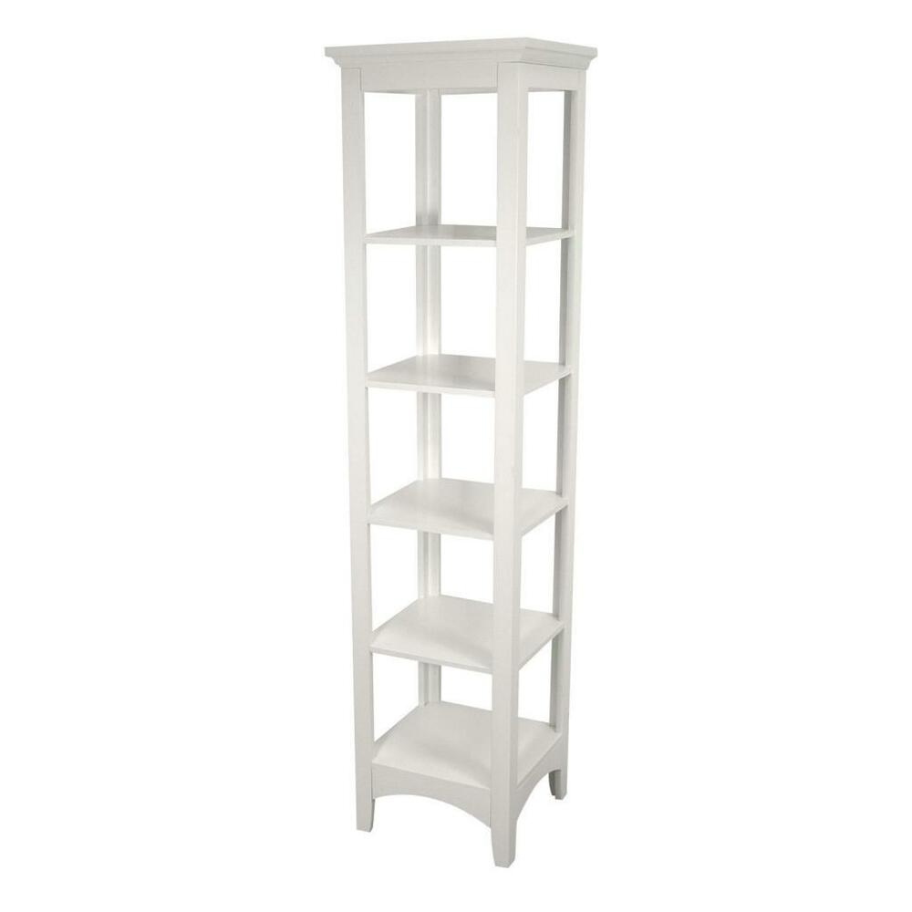 Madison Avenue Linen Tower Floor Cabinet Shelf For Storage