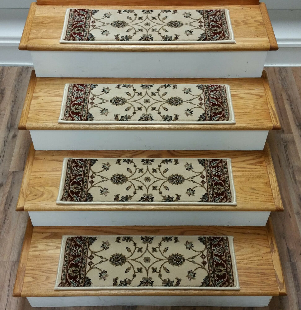 Rug Depot 13 Traditional Carpet Stair Treads 26 X 9