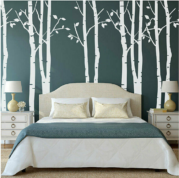 White Birch Tree Wall Stickers Decal Removable Vinyl Art