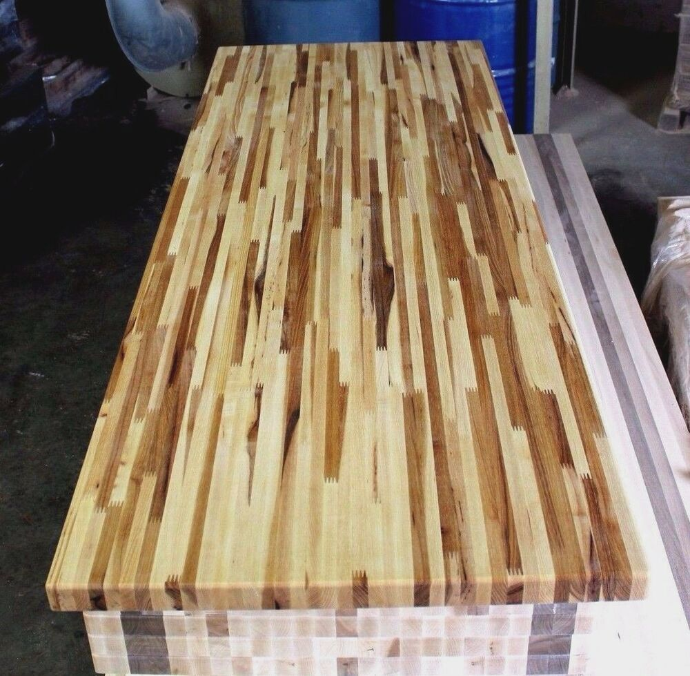 """forever joint hickory butcher block top 1-1/2""""x36""""x72"""
