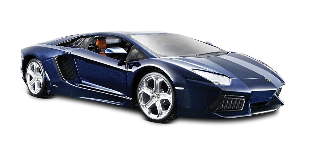 LAMBORGHINI AVENTADOR LP700-4 1/24 DIECAST MODEL CAR BLUE