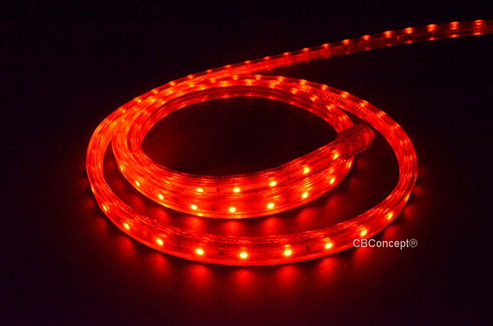 120 Volt Led String Lights : CBConcept UL Listed,80 Feet,8500 Lumen,Red,120 Volt Flat LED Strip Rope Light eBay