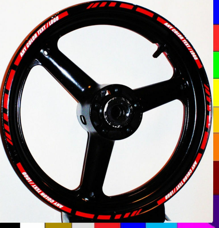 reflective motorcycle car rim stripes wheel decals tape stickers trim full set ebay. Black Bedroom Furniture Sets. Home Design Ideas