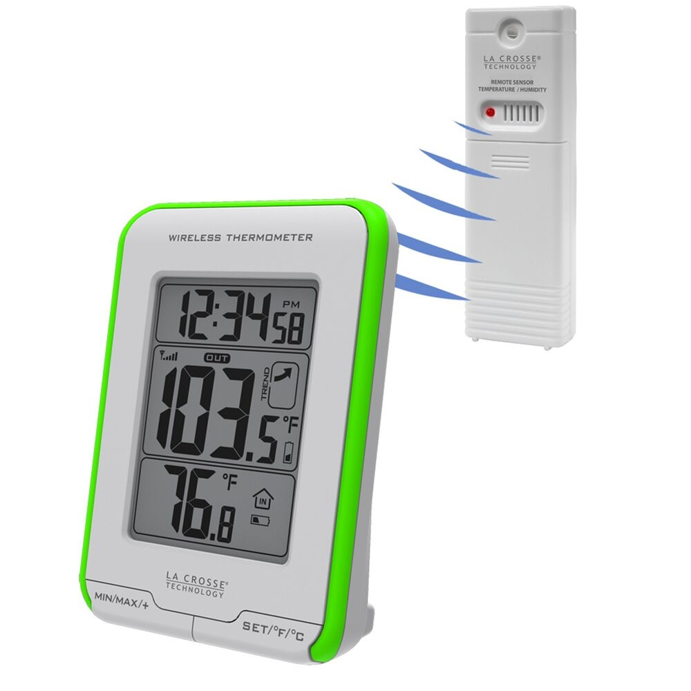 308 1410gr la crosse technology wireless thermometer with tx141 bv2 sensor ebay. Black Bedroom Furniture Sets. Home Design Ideas
