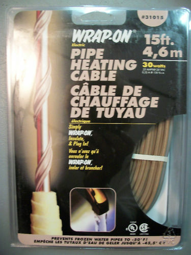 Wrap On 15 Ft 30 Watts Pipe Heating Cable 31015 Tan Ebay