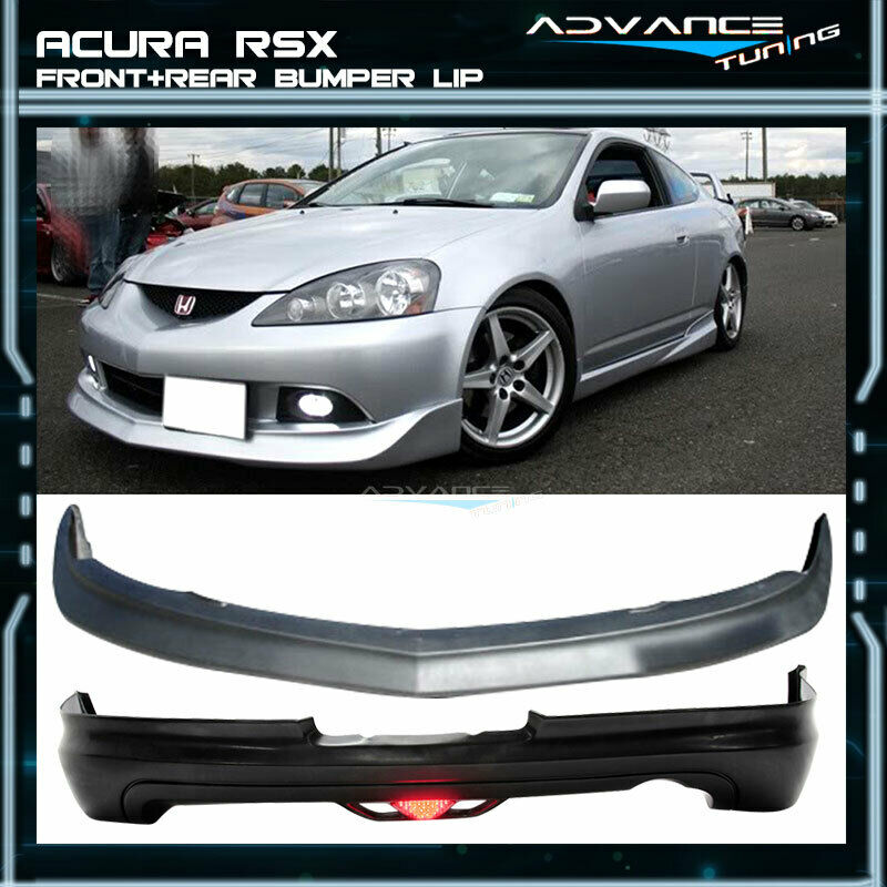 For 05-06 Acura RSX DC5 Mugen Urethane Front + Rear Bumper