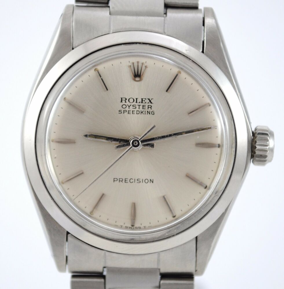 740b0023a6a1 ROLEX VINTAGE OYSTER SPEEDKING PRECISION REF 6430 CALIBER 1225 STEEL WATCH