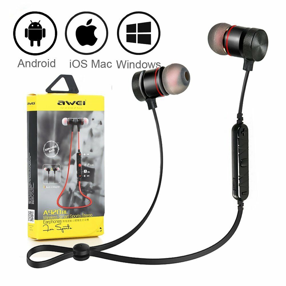 awei a920bl wireless bluetooth 4 0 sport stereo headset. Black Bedroom Furniture Sets. Home Design Ideas