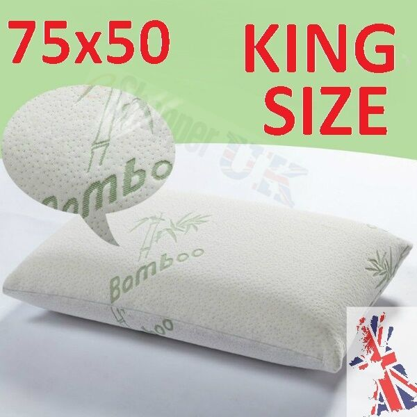 2 large king size bamboo pillow memory foam anti allergic for Dreamfinity king size pillow