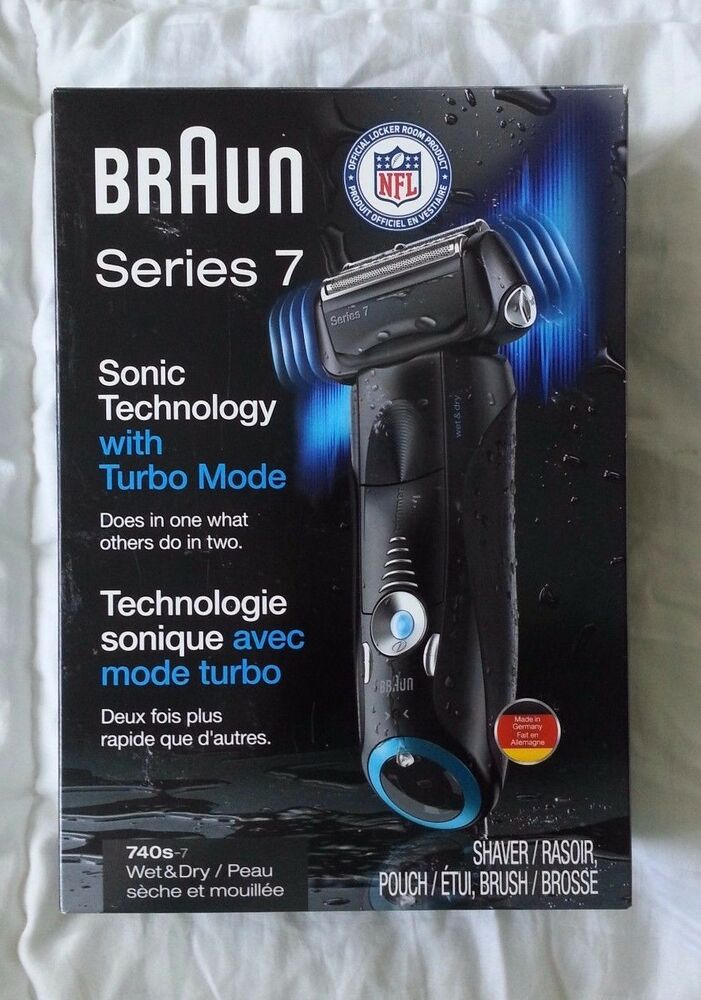 new open box braun series 7 cordless electric shaver razor wet nfl 740s 7 ebay. Black Bedroom Furniture Sets. Home Design Ideas