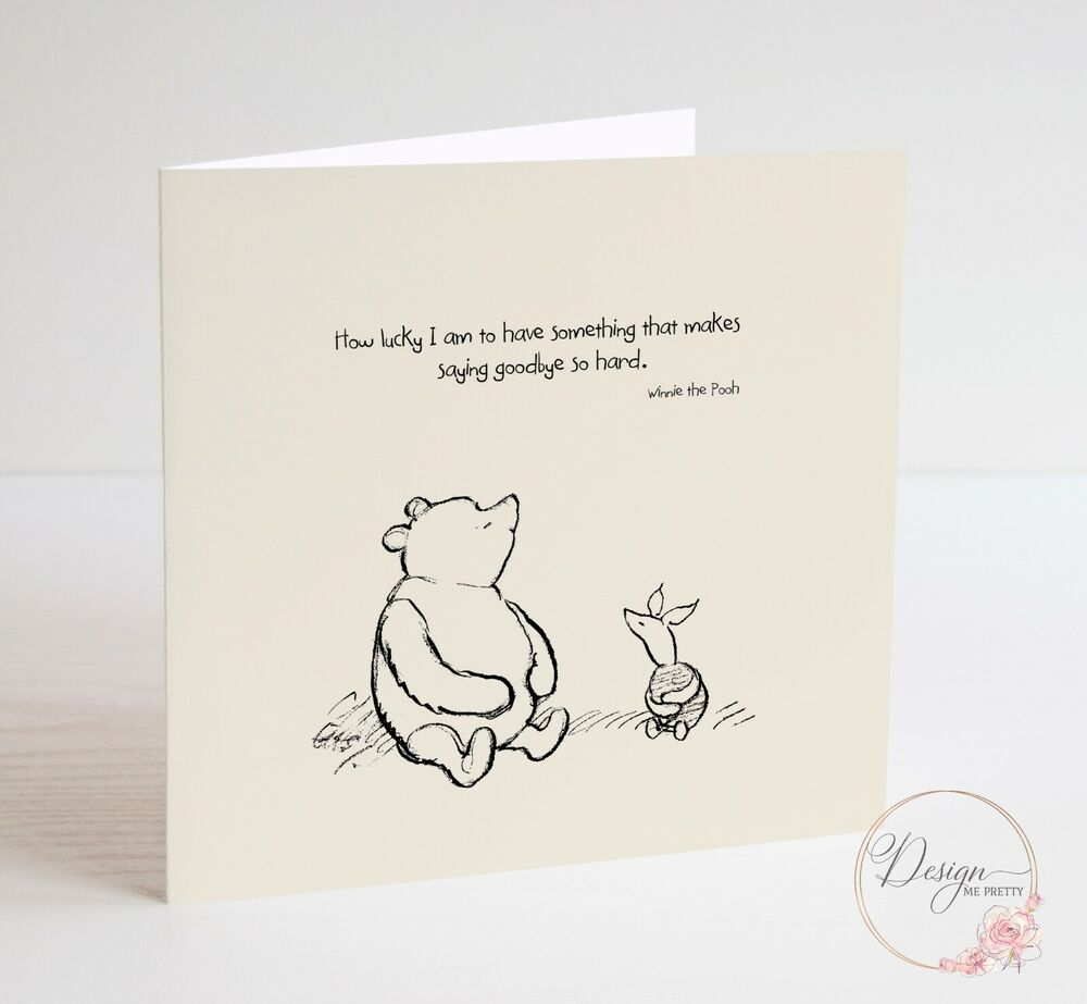 WINNIE THE POOH Sorry You're Leaving Card - Friend ...