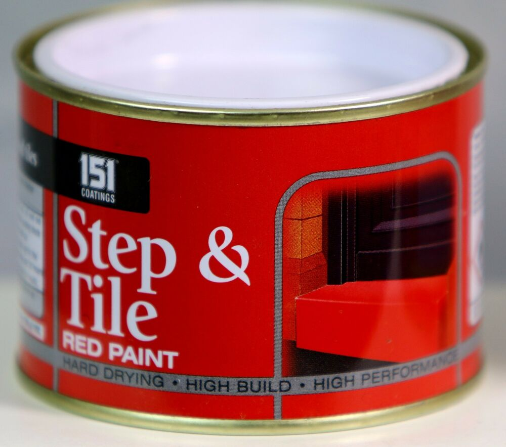 Step Tile Red Paint Indoor Outdoor Top Coat Painting Tough Durable 180 Ml Ebay