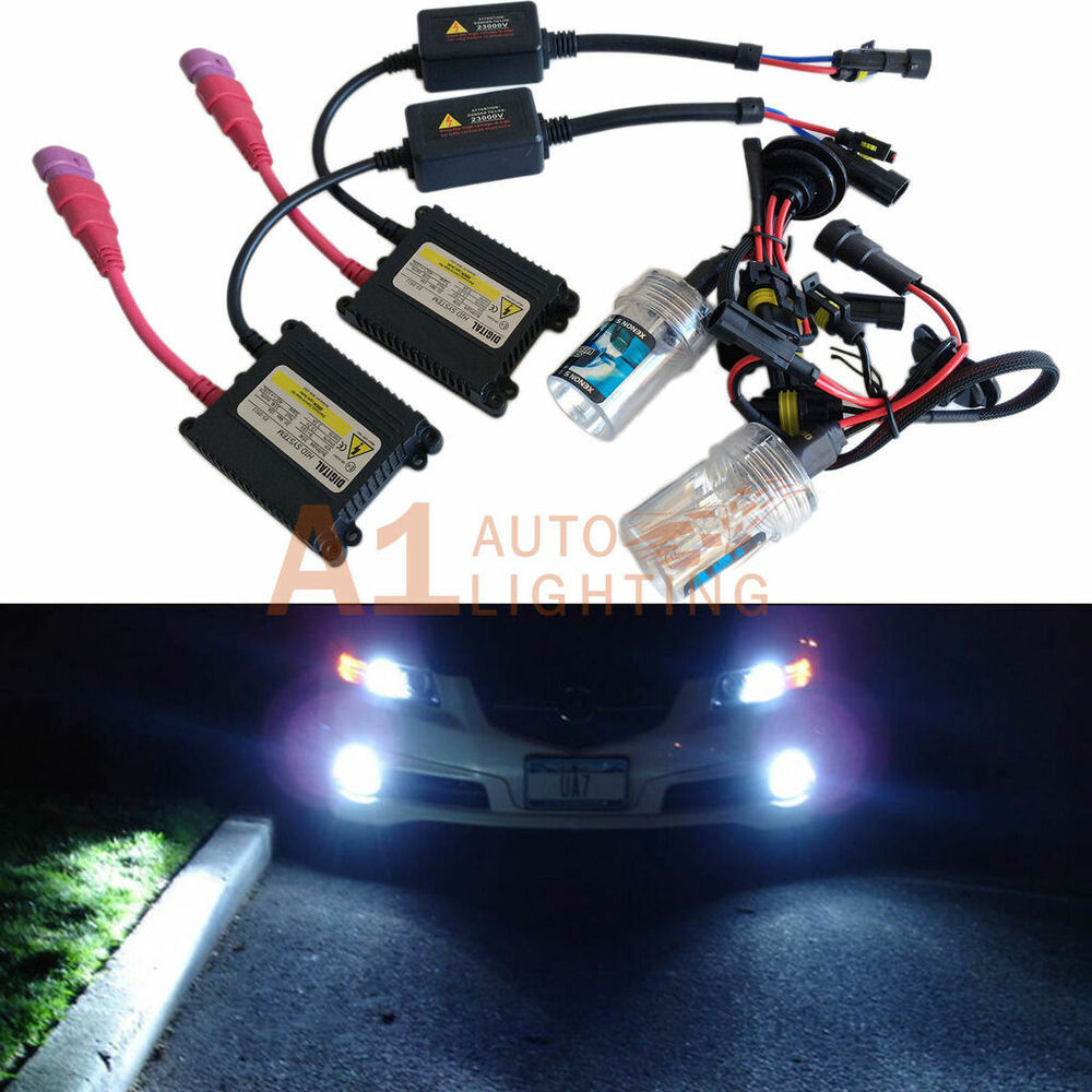 H11 8000K Xenon HID Kit Digital system 12V 35W Lights DC Ultra Slim on h11 relay harness, h4 conversion harness, hid connectors, 2001 mustang fog light wire harness, hid lights, hid wiring to a 02 impala, 2001 chevy silverado headlight wire harness, hid relay, hid kit wiring, hid controller, hid headlights,