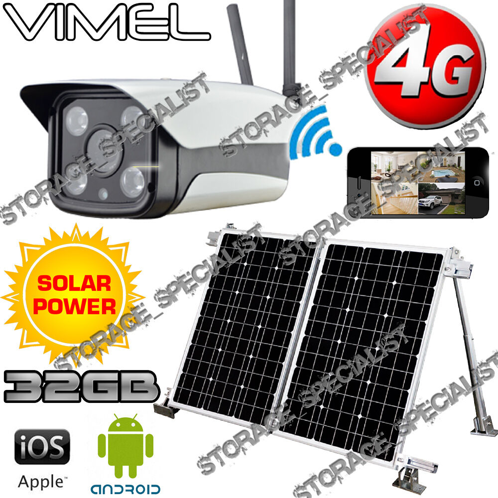 Wireless Security Camera 4g Solar Farm Gsm Home Ip Alarm